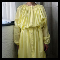 lemon yellow long one-piece / refuge
