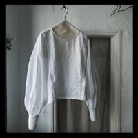 linen puff sleeve blouse / refuge