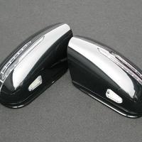 ベンツ Sクラス W220 後期 アロースタイル  ミラーカバー 197オブシディアンブラック 商品番号2401