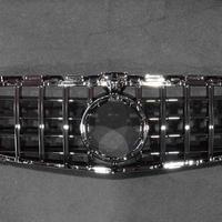決算処分品 ベンツ Cクラス W205 後期 カメラ付用 パナメリカーナグリル オール ブラック 商品番号4531