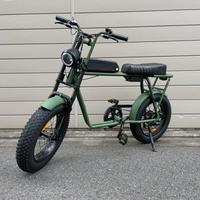 FLOW 電動アシスト ミリタリー 自転車 充電式 マットカーキ 商品番号4637
