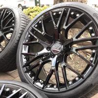 新品 ベンツ Cクラス W205 カールソン 1/10X 19インチ ブラック 新品コンチネンタルタイヤ付 5/112 Carlsson+continental