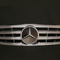 ベンツ Cクラス W203 SLスタイルグリル ディストロニックルック オールクローム メッキ 商品番号1193