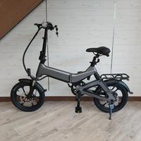 電動 折りたたみ 自転車 耐荷重150kg 充電式 マットグレー 商品番号4462