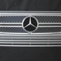 ベンツ Gクラス W463 ゲレンデ G65スタイルグリル 2ファン車対応品 744ブリリアントシルバー 商品番号3602