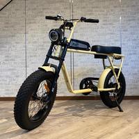 FLOW 電動アシスト ミリタリー 自転車 充電式 サンドベージュ 商品番号4637