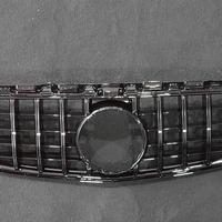 取付工賃込!! ベンツ Cクラス W205 前期 AMG C63専用 パナメリカーナグリル オール ブラック 商品番号4529