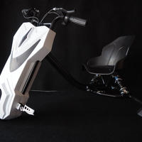 電動 ドリフト 三輪車 耐荷重100kg 充電式 ホワイト 商品番号4272