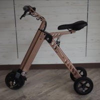 折り畳み 電動三輪車 ピンクゴールド 商品番号4396