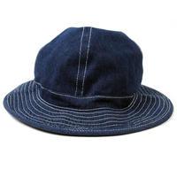 HA-31 デニムメトロハットBIGWATCH ネイビー 紺  大きいサイズ 帽子
