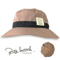 HA-29 パッカブル ウォータープルーフハットBIGWATCH ブラウン 大きいサイズ 帽子 収納 撥水