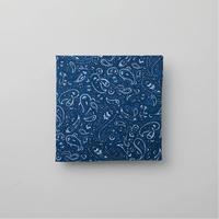 青ペイズリー てぬぐい(藍染)