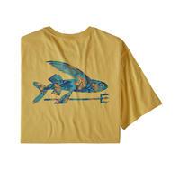 Patagonia(パタゴニア) メンズ・フライング・フィッシュ・オーガニック・Tシャツ #38528   Surfboard Yellow w/Squash Blossoms (SYSQ)