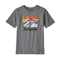 Patagonia(パタゴニア) レディース対応 ボーイズ・グラフィック・オーガニック・Tシャツ #62151 Line Logo Ridge: Gravel Heather (LLGH)