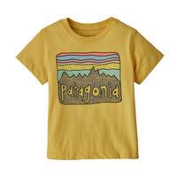Patagonia(パタゴニア) ベビー・フィッツロイ・スカイズ・オーガニック・Tシャツ #60419   Surfboard Yellow (SUYE)