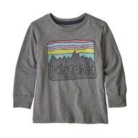 Patagonia(パタゴニア) ベビー・ロングスリーブ・グラフィック・オーガニック・Tシャツ  #60370  Fitz Roy Skies: Gravel Heather (FSGH) ■予約販売