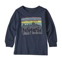 Patagonia(パタゴニア) ベビー・ロングスリーブ・グラフィック・オーガニック・Tシャツ  #60370   Fitz Roy Skies: New Navy (FSNE)