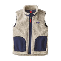 Patagonia(パタゴニア) キッズ・レトロX・ベスト  #65619  Natural w/Classic Navy (NCV))[98-134-ptretrovk]