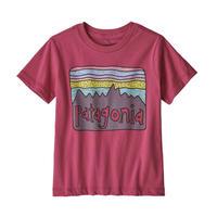 Patagonia(パタゴニア) ベビー・フィッツロイ・スカイズ・オーガニック・Tシャツ #60419 Reef Pink (REPI)