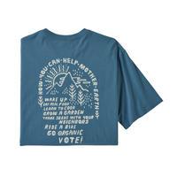 Patagonia(パタゴニア) メンズ・ハウ・トゥー・ヘルプ・オーガニック・Tシャツ #38530 Pigeon Blue (PGBE)