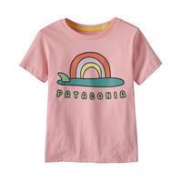 Patagonia(パタゴニア) ベビー・グラフィック・オーガニック・Tシャツ #60386 Single Fin Sunrise: Rosebud Pink (SFRP)