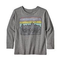 Patagonia(パタゴニア) ベビー・ロングスリーブ・グラフィック・オーガニック・Tシャツ  #60370  Futz Roy Skies /Gravel Heather (FFGH)