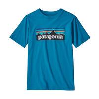 Patagonia(パタゴニア) レディース対応 ボーイズ・P-6ロゴ・オーガニック・Tシャツ #62153   Balkan Blue (BALB)