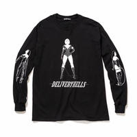 """Delivery Hells / """"3"""" L/S Tee (black)"""