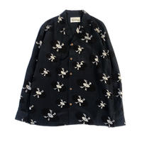 WACKO MARIA  HAWAIIAN SHIRT L/S ( TYPE-1 )  (navy)