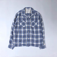 THREE FACE / LS  Open Color Shirt (ブルーチェック)
