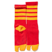 "F-LAGSTUF-F ""4line tabi socks""(red)"