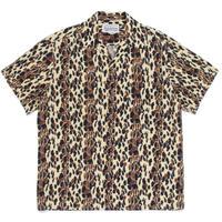 WACKO MARIA   / Leopard Open Collar Shirt (beige )