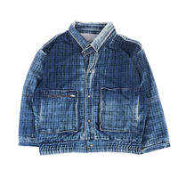 """ indigo denim check jacket""  (BLUBS VINTAGE )"