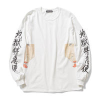 Delivery Hells   /  Lick L/S tee (white)