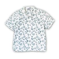 """90's OLD NAVY"""" skate print S/S shirt""""  (spice) #A1"""