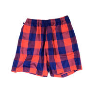 THREE FACE /  EASY SHORTS (navy × red)