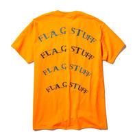 """F-LAGSTUF-F /"""" Semi circle"""" LOGO Tee  (orange)"""