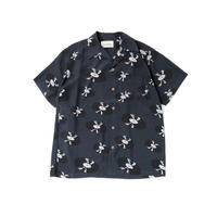 WACKO MARIA / HAWAIIAN SHIRT S/S (type-5,navy)
