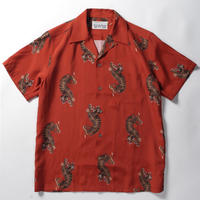 WACKO MARIA  /  hawaiian shirt (type-18)  (orange)