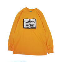 VOYAGE /Memory Work  L/S Tee (ORANGE)
