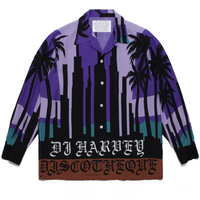 WACKO MARIA  x DJ HARVEY L/S HAWAIIAN SHIRT (purple)