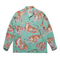 WACKO MARIA  x TIM LEHI / L/S Hawaiian Shirt (TYPE-1) (green)