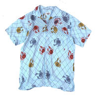 "60's ""Crab Print Shirt""   (spice) #A1"