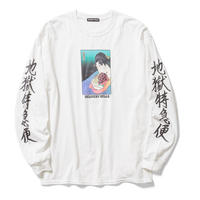 Delivery Hells / Relax  L/S Tee (white)