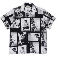"WACKO MARIA /  Larry Clark / Site-lo "" TULSA  Hawaiian shirt  (black)"