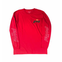 POVAL /  international L/S Tee   (red)