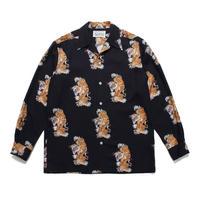 WACKO MARIA  x TIM LEHI / L/S Hawaiian Shirt (TYPE-3) (black)