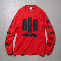 "Tenjinyu / 10th ""BUSINESS AS USUAL"" L/S Tee (red)"