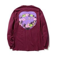 "F-LAGSTUF-F / "" Circle Flower "" L/S Tee (maroon)"