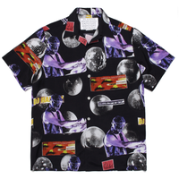 "WACKO MARIA  x DJ HARVEY ""S/S hawaiian shirt""  (black)"